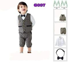 Brown vest 4 in 1 boyset (G097) || size 80-120 || IDR 152.000