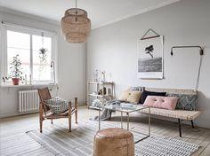 Ikea 'Sinnerlig' sofa & pendant lamp