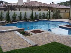 Beautiful poolside terrace with fire pits : Designers' Portfolio : HGTV - Home & Garden Television