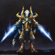 StarCraft Protoss Zealot  http://samwisedidier.deviantart.com/art/Starcraft-Zealot-Concept-450378441