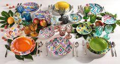 Samba è la tavola dell'estate: la vivacità di un ritmo che accende la festa, i colori di una linea che rende la tavola un'esperienza da vivere in allegria! Samba, D 20, Estate, Tableware, Dinnerware, Dishes