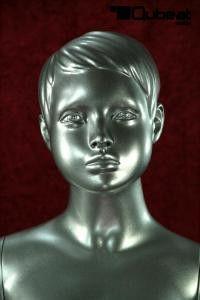 #silber #silver #Gesicht #Schaufensterpuppe #Mannequin #Kind #Kinder #Junge #männlich