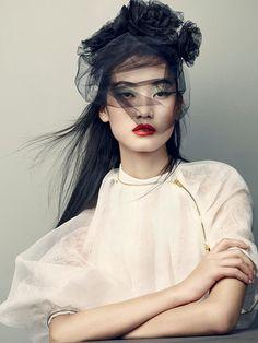 acourseofevents:    Lina Zhang - Vogue China by David Slijper, April 2013