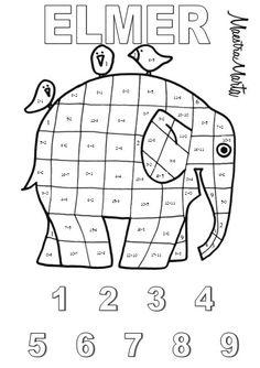 Elmer The Elephants, Creative Teaching, Teaching English, Pre School, Pixel Art, Education, Learning, Colouring, Albums