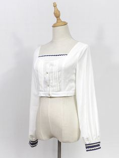 Classic Lolita Blouse Neverland Morning Star Idol Academy White Lolita Top   Neverland 0f8d07fe7
