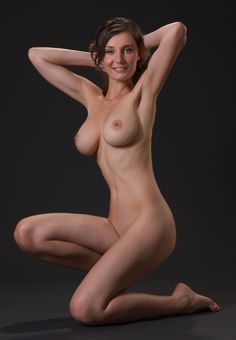 Nude figure reference pose