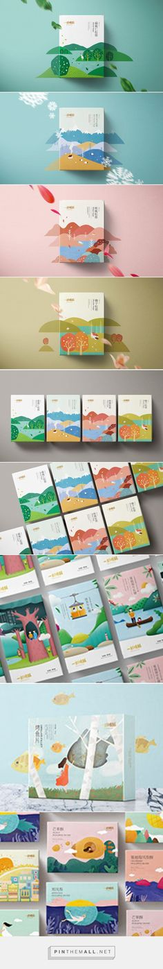 A PIECE OF LOVELY CAKE Puff Pastry Package Design on Behance - created via https://pinthemall.net