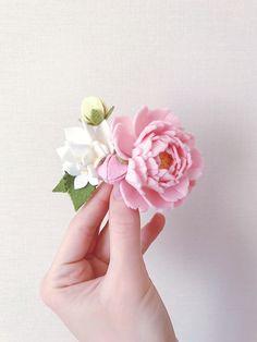 Feltflowerheadband feltflowercrown feltpeony by Flowerlion