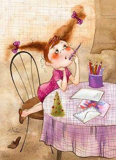 Позитивные акварельные иллюстрации Виктории Кирдий (34 рисунка)