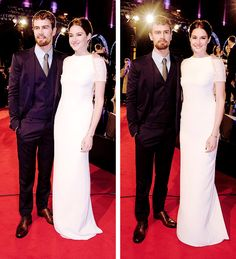 Theo James and Shailene Woodley attend the World Premiere of 'Insurgent' at Odeon Leicester Square on March 11, 2015 in London, England.