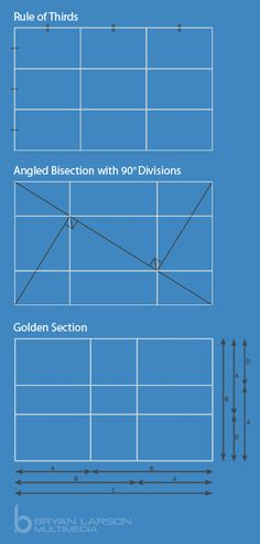 Compositions: Rule of Thirds, Golden Section, Angled Bisection