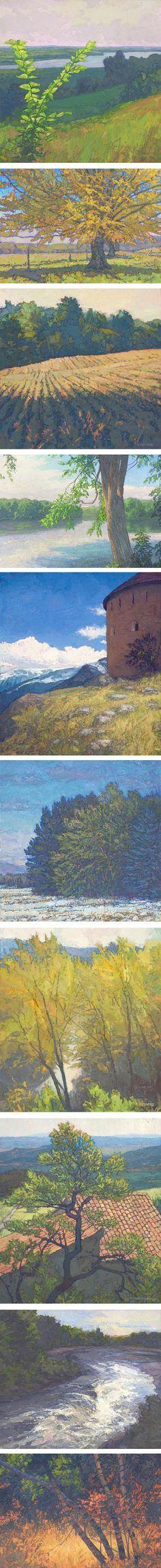 Thomas Paquette's landscape paintings