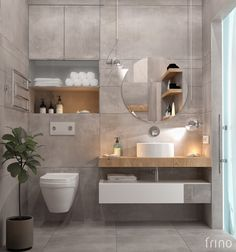 new Ideas bathroom minimalist decor powder rooms Washroom Design, Toilet Design, Bathroom Design Luxury, Modern Bathroom Design, Minimalist Bathroom, Minimalist Decor, Bathroom Inspiration, Small Bathroom, Mirror Bathroom