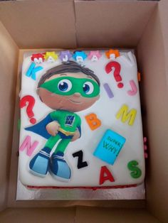 Super Why B'day cake