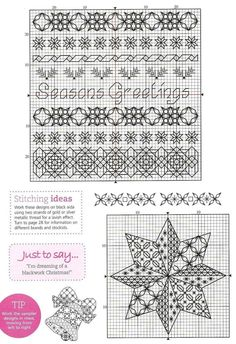 blackwork | blackwork christmas | A Crafty Christmas