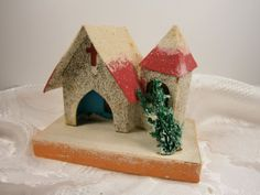 Vintage Christmas Putz Church Made In Japan by Eklektibles on Etsy, $28.00