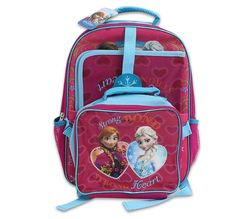 "Disney Frozen 16"" Large Backpack Lunch School Folder Bag SET Anna Elsa PRIORITY #Dsiney #BackpackLunchBagFolderCombo"