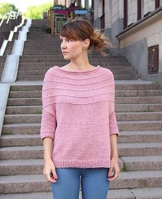 Morning Stroll Knit Pullover | AllFreeKnitting.com