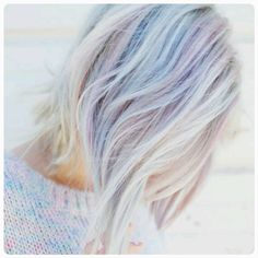 Soft pastel multicolored hair