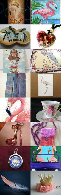 ♥ Pinky The Flamingo Tribute ♥ by Chrystina on Etsy--Pinned+with+TreasuryPin.com