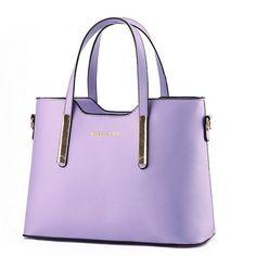 Color Scissor Women Genuine Leather Shoulder Bags Top-Handle Handbag Tote Purse Bag Purple