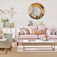 Pink Living Room Furniture parts can add a touch of style and design to any home. Pink Living Room Furniture can mean many things to many individuals… Living Room Ideas Rose Gold, Glam Living Room, Living Room Furniture, Living Room Decor, Living Rooms, Dark Furniture, Cozy Living, Apartment Living, Living Area