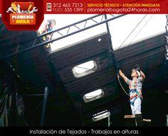 Instalación de tejados- trabajos en alturas