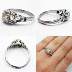 adorable bow engagement ring