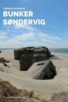 Die #Bunker am #Strand an der #Nordsee bei #Sondervig in Dänemark sind ein Mahnmal an den 2. Weltkrieg. Heute eine surreale Kulisse: #Meer, weißer Strand, Sonne, spielende Kinder. Mehr Bilder dieser merkwürdigen #Sehenswürdigkeit seht ihr auf meinem Blog!
