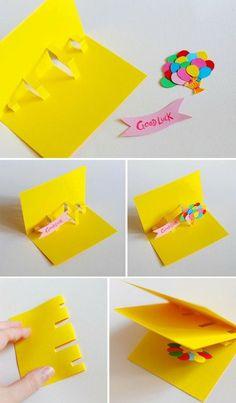 Diy Pop Up Cards . 22 Inspirational Diy Pop Up Cards . Lin Handmade Greetings Card Pop Up Cards Diy Paper, Paper Crafts, Paper Art, Tarjetas Diy, Good Luck Cards, Pop Up Cards, Homemade Cards, Diy Gifts, Cardmaking