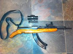 Pretty idiotic SKS cut down.Loading that magazine is a pain! Get your Magazine speedloader today! http://www.amazon.com/shops/raeind