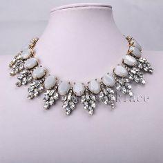 New-Design-Lady-Bib-Statement-Gorgeous-multi-Women-Crystal-necklace-collar