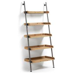 Regał na książki marki La Forma, model Stick. Ladder Shelf Diy, Ladder Bookcase, Bookshelves, Wall Shelves, Shelving, Leaning Shelf, Etagere Design, Bibliotheque Design, Vintage Office
