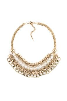 Beaded and Chain Twined Necklace