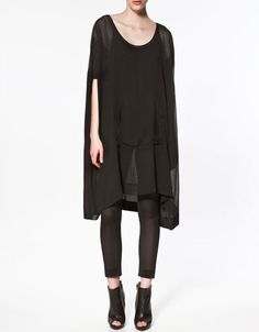 Zara chiffon top- I think I could pull this off.