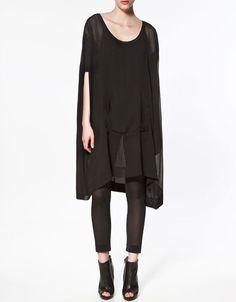 PONCHO T-SHIRT - Dresses - Woman - ZARA