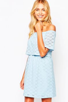 87e209cb8 Shop Fashion Union Off Shoulder Crop Dress In Floral Lace at ASOS.