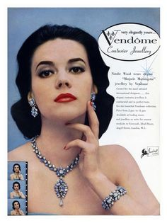 Natalie Wood, Vendome jewelry ad, 1950s*