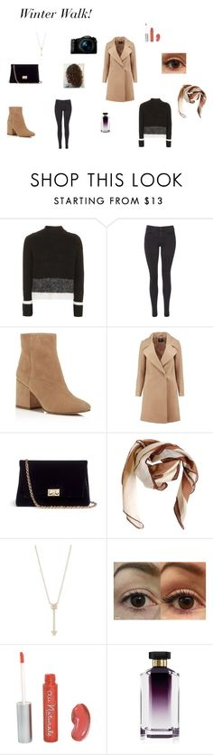 """""""Winter Walk!"""" by lizzie-raye ❤ liked on Polyvore featuring Topshop, Maison Scotch, Sam Edelman, Boohoo, Rodo, HUGO, EF Collection, STELLA McCARTNEY and Sony"""