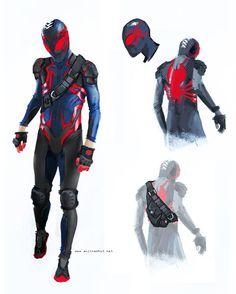 Spiderman Costume Redesign by Anjin Anhut Marvel Comics, Comics Anime, Marvel Art, Marvel Heroes, Comic Book Characters, Marvel Characters, Comic Character, Comic Books Art, Costume Spider-man