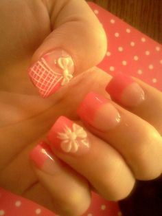 165 Best Cute Bows Nail Art Images On Pinterest Pretty Nails