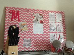 My Cork Board that I made for my Kitchen! ❤️ (M.T.E) #diy #diykitchencorkboard #diykitchendecor #diyapartmentdecor #apartmentdecorating #Apartmentdecor #craftsbymorganMTE
