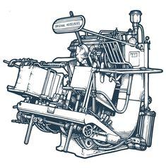 Heidelberg Print machine t Heidelberg Letterpresses Letterpress Machine, Letterpress Printing, Retro Illustration, Illustrations, Wonderful Machine, Commercial Printing, Printing Press, Foil Stamping, Digital Prints