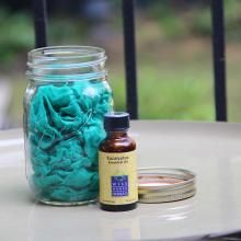 Put some essential oil on a rag and keep in a mason jar - cheap and easy natural mosquito repellent