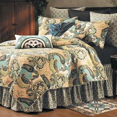 Kasbah Paisley Quilt Bedding. Love the colors and design.