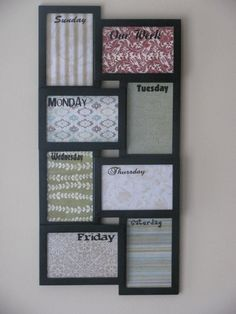 Weekly Dry Erase Planner Calendar Custom by MadeItWithLove on Etsy, $35.00