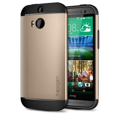 HTC One M8 Case, Spigen® [AIR CUSHION] HTC One M8 Case Protective [Slim Armor] [Champagne Gold] Air Cushioned Dual Layer Protective Case for The All New HTC One / HTC One M8 / HTC One 2 / HTC One 2014 (2014) - Champagne Gold (SGP10815), http://www.amazon.com/dp/B00IF5B3TE/ref=cm_sw_r_pi_awdm_1nuFub0VBQ87D