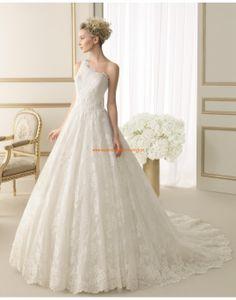Traumhafte Einschulter Princess-stil Brautkleider aus Spitze 177 EXOTICO | luna novias 2014