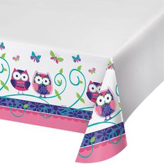 Owl Pal Birthday 54 x 108 Plastic Tablecover Border Print/Case of 6 https://www.ktsupply.com/products/32786326476/Owl-Pal-Birthday-54-x-108-Plastic-Tablecover-Border-PrintCase-of-6.html
