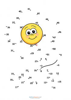 Connect the dots – Sun #dottodot #mental #activities #preschool